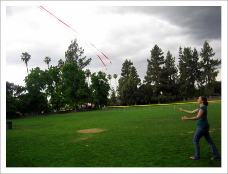 Sidra chases Rama's kite